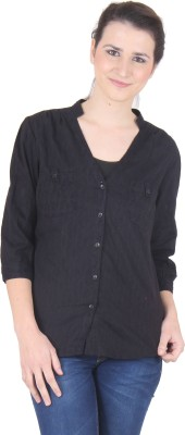 SS Women's Solid Casual Brown Shirt