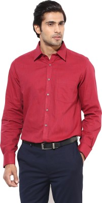 London Bridge Men's Solid Formal Red Shirt