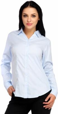 Snoby Women's Solid Formal Light Blue Shirt
