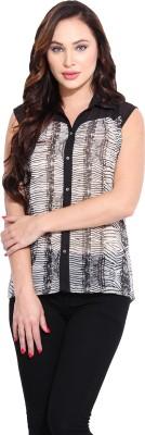 Ceylin Women's Solid Casual Black Shirt