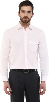 Urban Culture Men's Solid Formal Pink Shirt