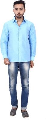 KENRICH Men's Solid Formal Light Blue Shirt