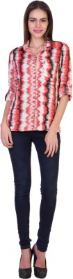 Crosstitch Women's Printed Party Pink Shirt