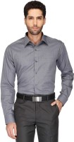 Stop By Shoppers Stop Formal Shirts (Men's) - Stop By Shoppers Stop Men's Solid Formal Grey Shirt