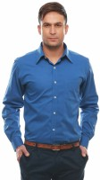 Jogur Formal Shirts (Men's) - Jogur Men's Solid Formal Blue Shirt
