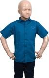 Puppet Nx Boys Solid Casual Blue Shirt