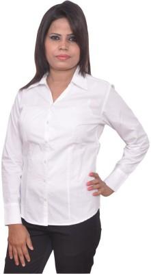 Jitendrastore24 Women's Solid Formal White Shirt