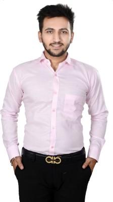 Dunley Lewis Men's Solid Formal Pink Shirt