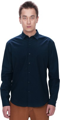 Srota Mens Solid Casual Blue Shirt