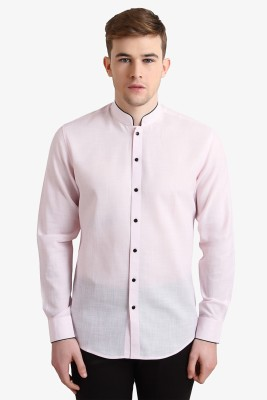 Alvin Kelly Men's Solid Casual Pink Shirt