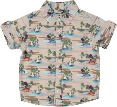 Addyvero Boy's Geometric Print Party, Casual Multicolor Shirt