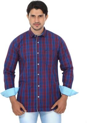 Mabho Men's Checkered Casual Multicolor Shirt