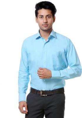 Call In France Men's Solid Formal Light Blue Shirt