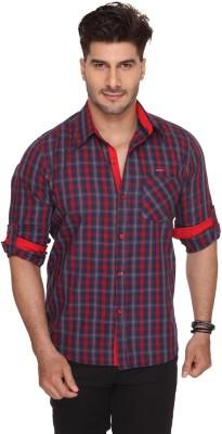 Ramarrow Men's Checkered Casual Red Shirt