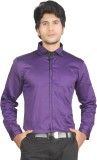 Red Country Men's Solid Casual Purple Sh...