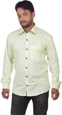 Modo Vivendi Men's Solid Casual Light Green Shirt