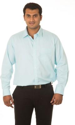 Nova Scottia Men's Checkered Formal Green Shirt