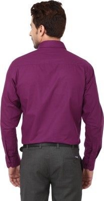 Hanu Men's Solid Casual Purple Shirt