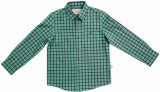 BonOrganik Boys Checkered Casual Green S...