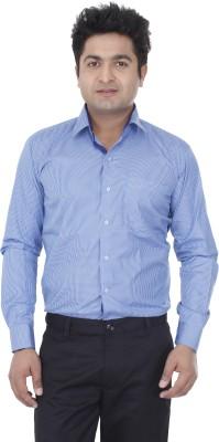 Aces Blue Men's Checkered Formal Blue Shirt