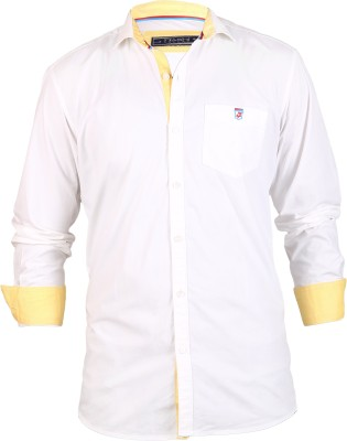 Hash Luxury Men's Solid Party White Shirt
