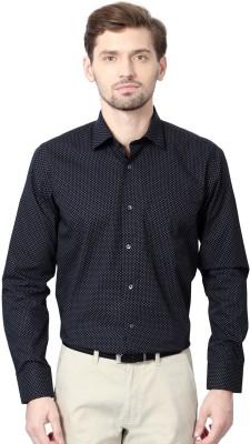 Van Heusen Men's Printed Formal Black Shirt
