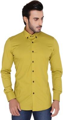 Mode De Base Italie Men's Solid Casual Green Shirt