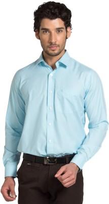 Klub Fox Men's Solid Formal Blue Shirt