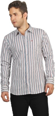 P4 Men's Striped Casual Multicolor Shirt