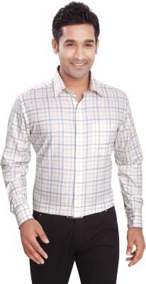 Boonplush Men's Checkered Formal Multicolor Shirt