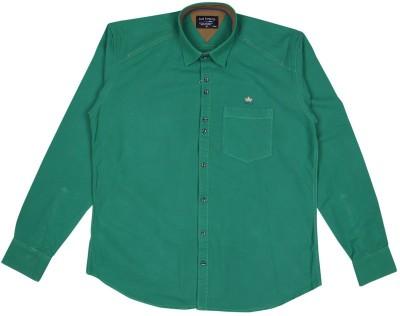 Esoft Men's Solid Casual Green Shirt