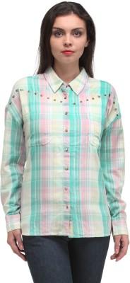 Kiosha Women's Checkered Casual Multicolor Shirt