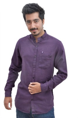 Tenor Men's Solid Casual Purple Shirt