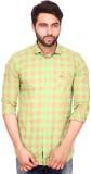 RKF Men's Checkered Casual Green Shirt