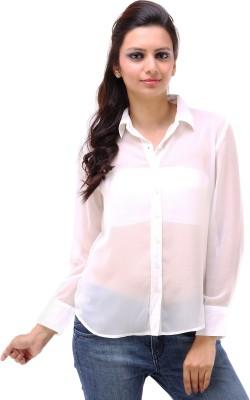 Kashana Fashions Women's Solid Formal White Shirt