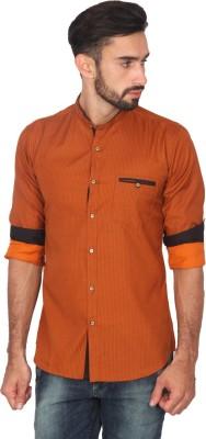 Ashford Brown Men's Printed Casual Brown Shirt