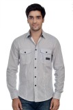 Parv Collections Men's Striped Casual Wh...