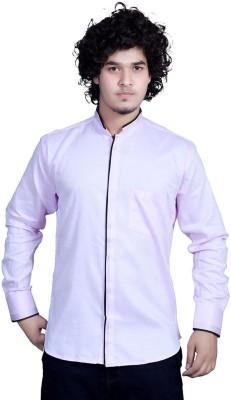 Bucci Men's Self Design Casual Pink Shirt