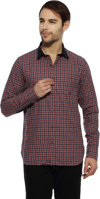 Derby Jeans Community Men's Checkered Casual Red Shirt