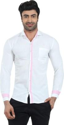 Fashion Stylus Men's Solid Casual White Shirt