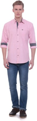 Scatchite Men,s Solid Casual Pink Shirt