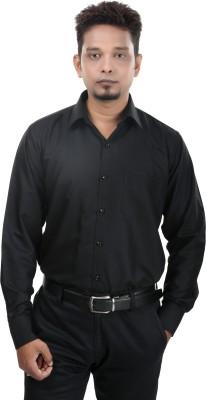 Bellavita Men,s Solid Formal Black Shirt