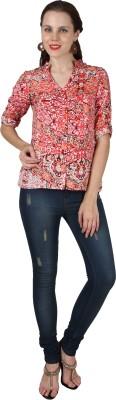 Divas Women's Printed Casual Multicolor Shirt