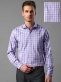 Invictus Men's Checkered Formal Purple S...