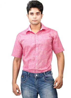 Relish Men's Solid Formal Red, Pink Shirt