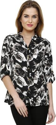 Ritzzy Women,s Printed Casual Black Shirt