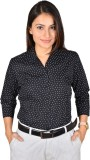 LGC Women's Printed Formal Black Shirt