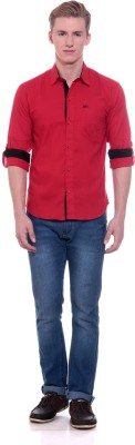 Scatchite Men,s Solid Casual Red Shirt