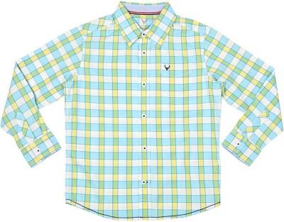 Allen Solly Boy's Checkered Casual Blue Shirt