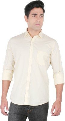 Easies Men's Solid Casual Yellow Shirt
